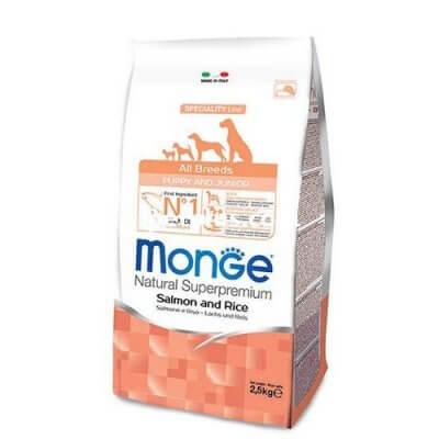 מונג מזון סופר פרמיום סלומון לגורי כלבים